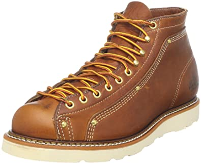 Thorogood 814-4233 Men's American Heritage Wedge Lace-to-Toe Roofer Boot  Tobacco