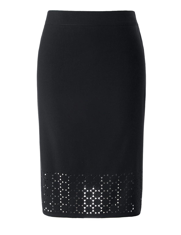 Chicwe SKIRT レディース B07G6Z4KQ8 (Waist=35-41 inch) 1X ブラック ブラック (Waist=35-41 inch) 1X