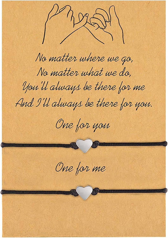 Pinky Promise Bracelet Best Friend Bracelets for 2 Matching Bracelets Best Friend Friendship Gift For Women Teen Girl