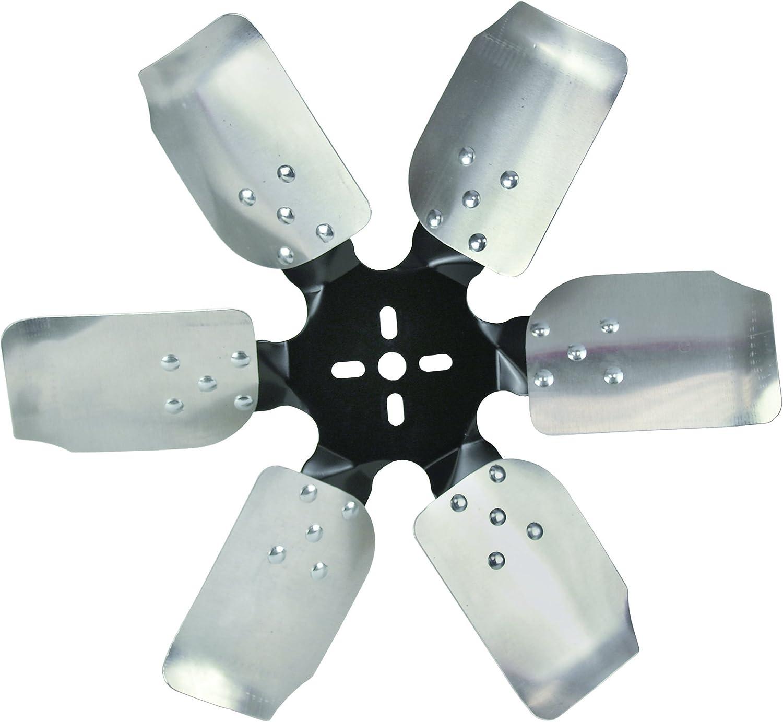 Derale 17518 Heavy Duty Fan Blade Series 1000 18 Aluminum Rigid Race Belt Driven Fan Standard Rotation