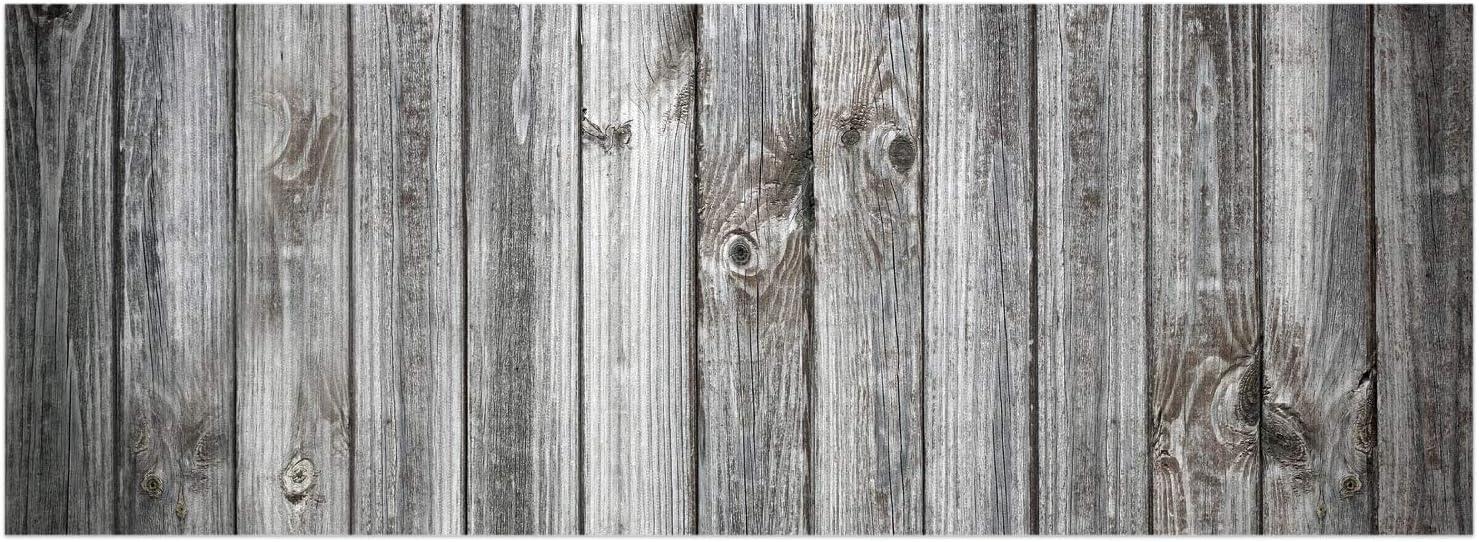 70 x 50 cm Wallario Duschmatte Antirutschmatte Badmatte Fu/ßmatte Holz-Optik Textur hellgraues Holz Paneele Dielen mit Asteinschl/üssen Gr/ö/ße ca