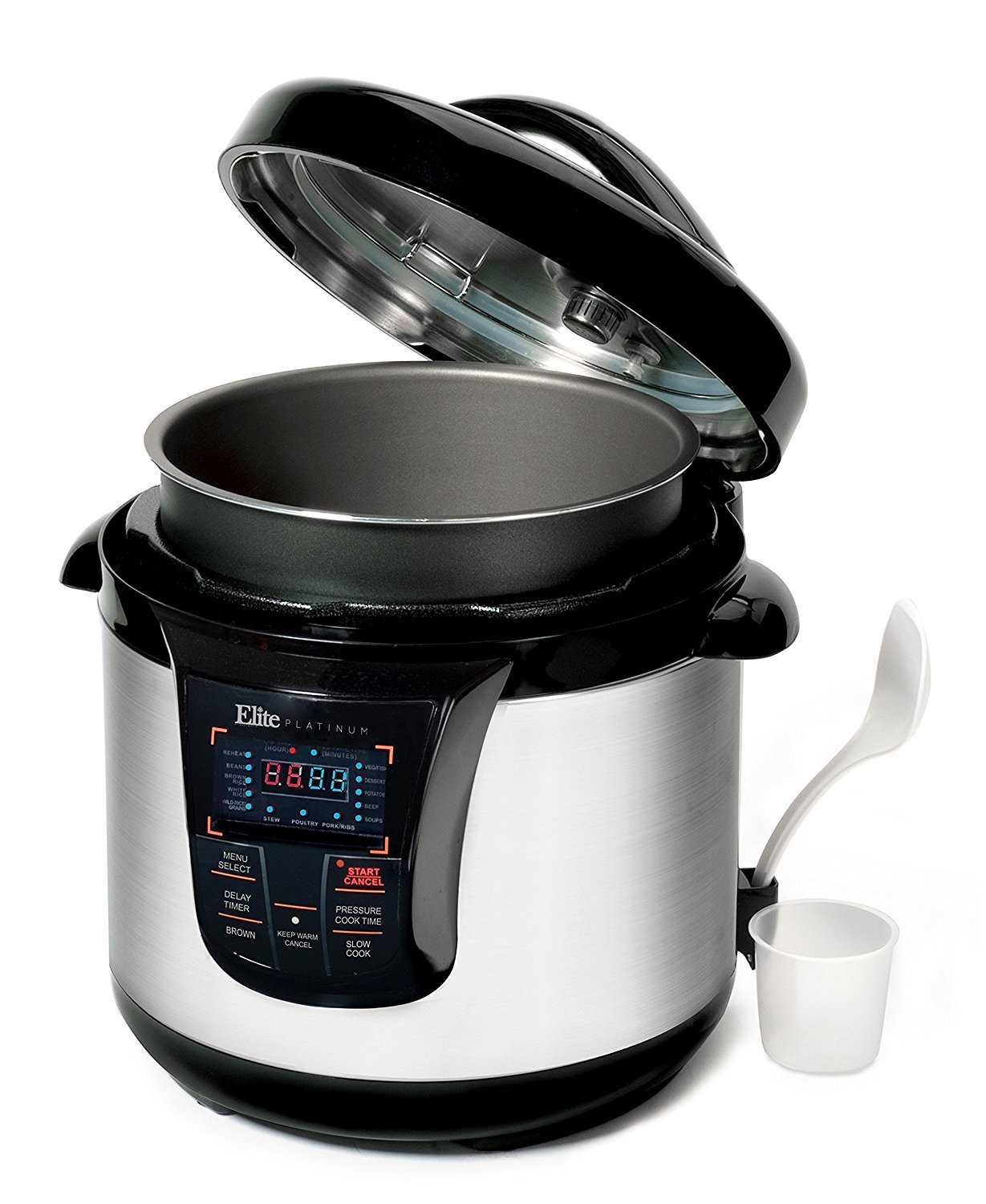 Elite Platinum 8 Quart 14-in-1 Multi-Use Programmable Pressure Cooker, Slow Cooker, Rice Cooker, Sauté, and Warmer - Black by Maxi-Matic (Image #11)
