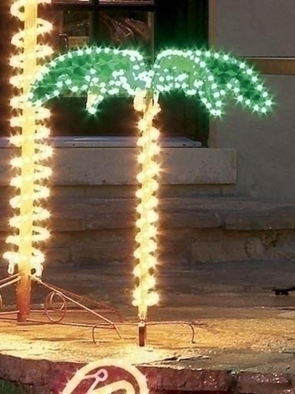 Outdoor Light Up Palm Tree Part - 42: Amazon.com: 4.5u0027 Tropical Lighted Holographic Rope Light Outdoor Palm Tree  Yard Decoration: Garden U0026 Outdoor