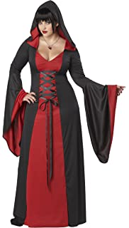 a5b28c8d8 Smiffys Adult Women's Dark Temptress Costume, Dress and Hood ...