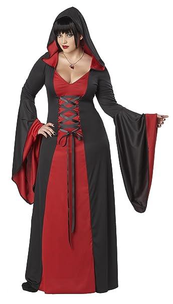 Peignoir à Capuche pour Femme Rouge Grande taille Costume de déguisement  XXXL
