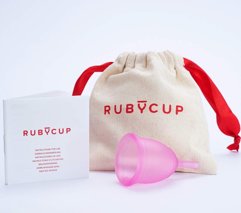 Ruby Cup - Copa Menstrual Reutilizable (Flujo Intenso, cérvix Alto, tamaño M)– Transparente – Incluye donación de Copa Principiantes. Una Alternativa a los tampones/compresas práctica y fiable.: Amazon.es: Hogar