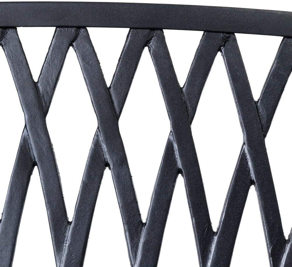 Ldk Garden Gartenbank aus Stahl schwarz matt