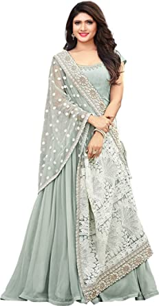 5948280f2df Royal Export Women s Georgette Long Gown  Amazon.in  Clothing ...