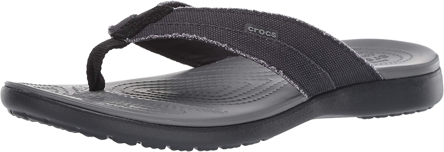 Crocs Santa Cruz Canvas Flip Men, Zapatos de Playa y Piscina para Hombre