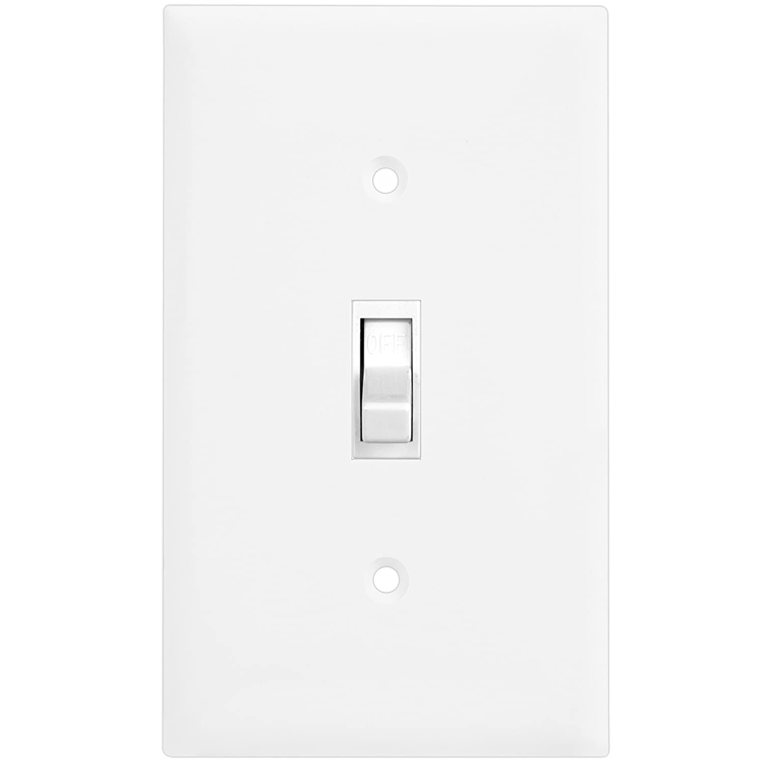 8811O-W Polycarbonate Thermoplastic White Over-Size 1-Gang 5.5 x 3.5 ENERLITES Toggle Light Switch Wall Plate Over-Size 1-Gang 5.5 x 3.5