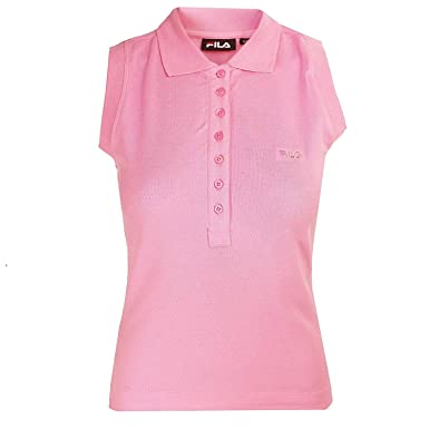 0d72e9b8 Fila Womens Prism Pink EEL Polo Shirt: Amazon.co.uk: Clothing