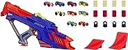 Lançador Carro Nerf Nitro Motofury Rapid Nerf Azul/laranja/cinza