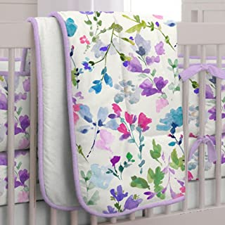 product image for Carousel Designs Bright Wildflower Crib Comforter with Piping