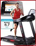 Sportstech F48 tapis roulant professionnel avec 9 pouces Android Fitness App WiFi 7,75 CV 20 kmh avec support de la tablette - pliable