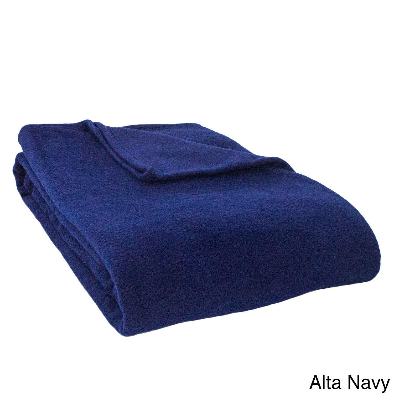 Single Piece海軍キングブランケット、洗濯機洗い可能、抗ピル性フリース、カジュアル、現代のスタイル、ソリッドカラーパターン、快適で軽量、100 %ポリエステル素材、ロイヤルブルー B01LXA1N4T