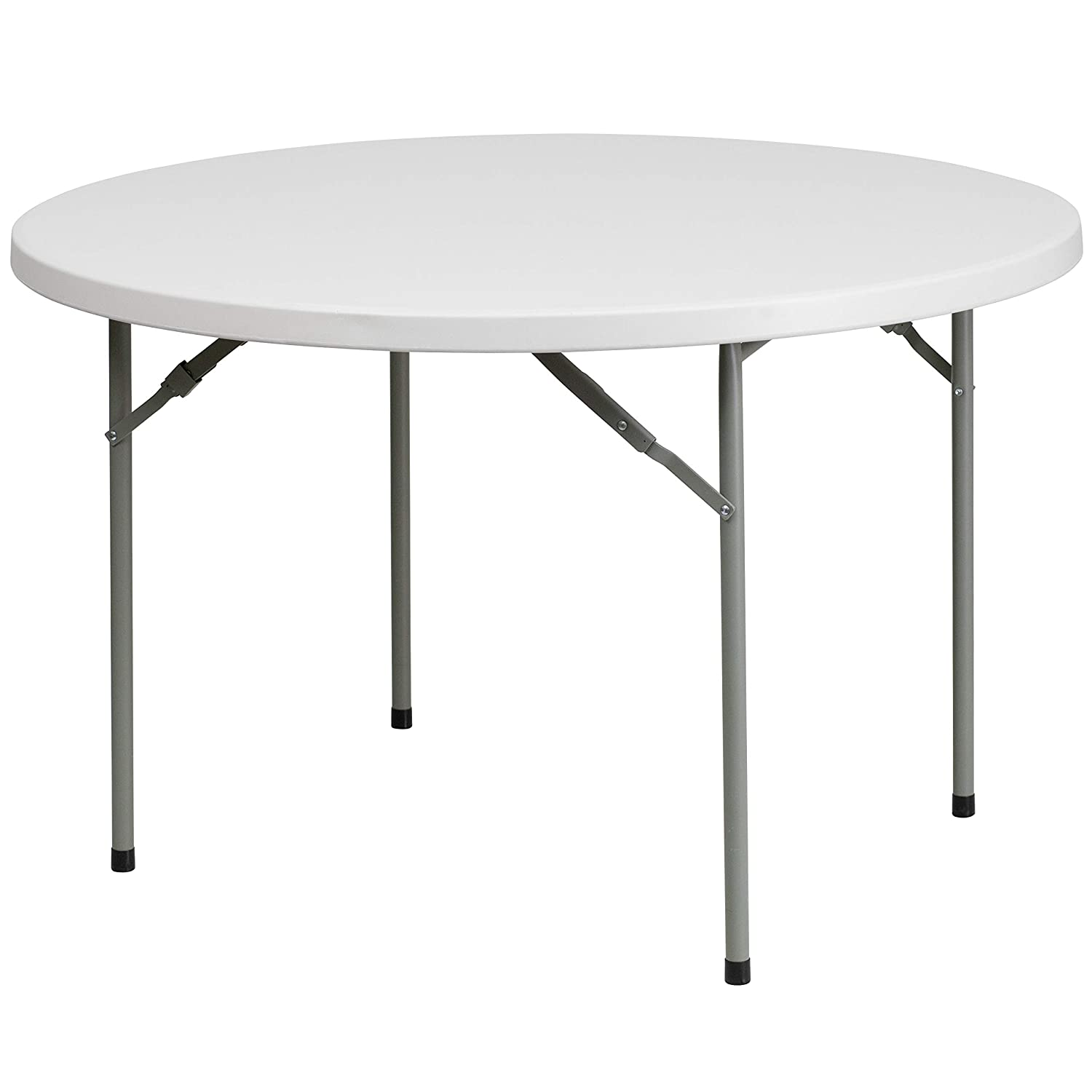 Flash Furniture 48'' Round Granite White Plastic Folding Table [RB-48R-GG]