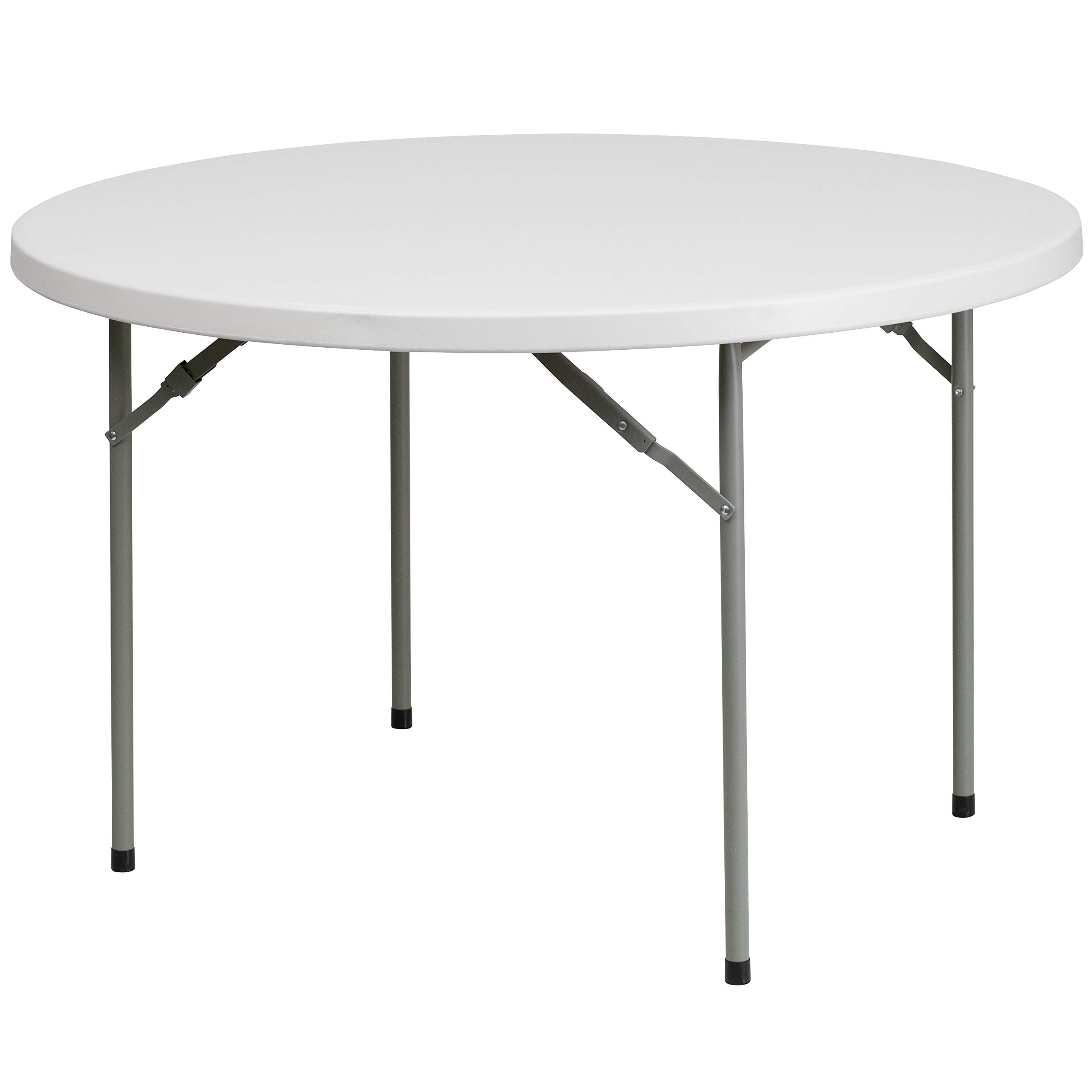 Flash Furniture 48'' Round Granite White Plastic Folding Table [RB-48R-GG] by Flash Furniture