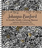 #10: Johanna Basford 2018-2019 16-Month Coloring Weekly Planner Calendar