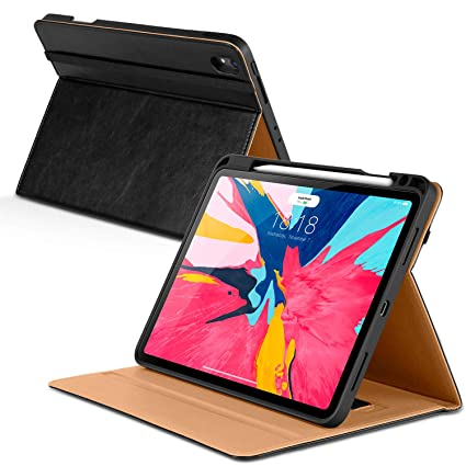 sports shoes bc952 14509 DTTO iPad Pro 11 Case 2018 with Pencil Holder, Premium Leather Folio Stand  Cover [Apple Pencil Pair and Charge Supported], with Auto Sleep/Wake for ...