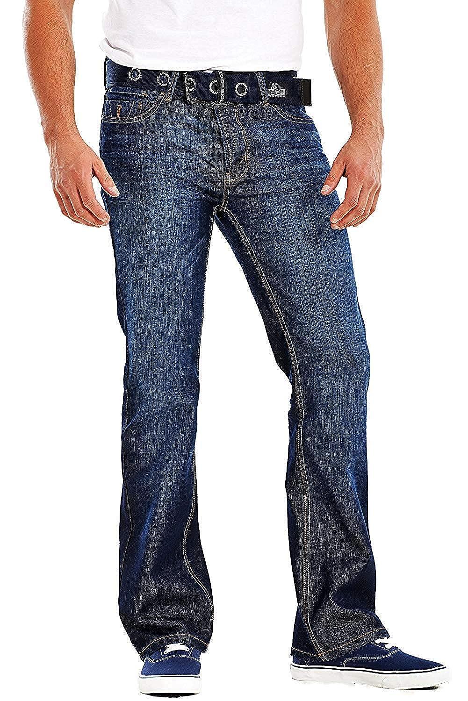 The Regent Centre Mens Bootcut Jeans Stone Edge Brand Denim Waist 30 to 42 Short Long Regular