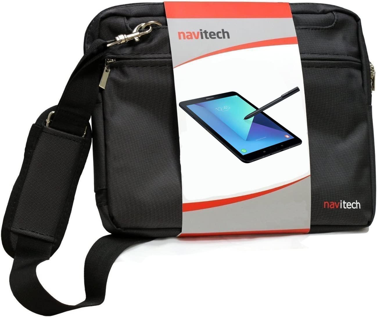 Navitech Black Sleek Premium Water Resistant Shock Absorbent Carry Bag Case Compatible with The The Acer Iconia One 10 Tablet B3-A40