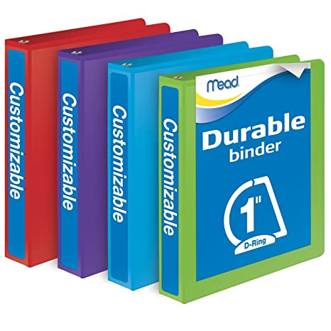 amazon com mead 1 inch binders d ring binder durable