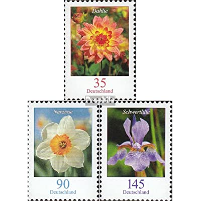 RFA (FR.Allemagne) 2505R-2507R avec numéro de surveillance (complète.Edition.) 2006 Fleurs (Timbres pour les collectionneurs)