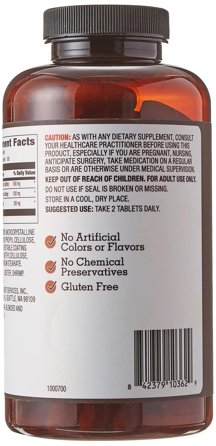 Amazon Brand - Amazon Elements Glucosamine Complex, Glucosamine Chondroitin MSM, 190 Tablets, 3 Month Supply by Amazon Elements (Image #6)