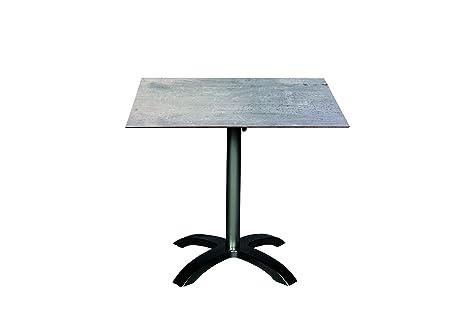 ACAMP acaplan HPL Mesa Muebles de Jardín, Antracita/Cemento Grigio ...