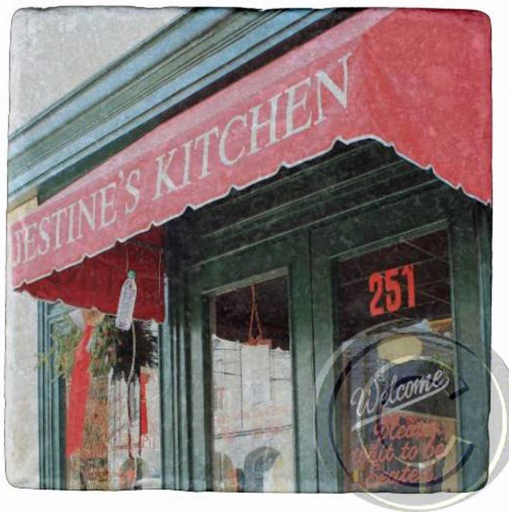 Amazon Com Jestine S Kitchen Charleston Sc Marble Stone Coaster Coasters