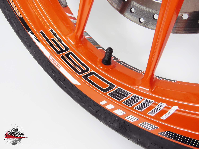 Bike Label 710046A Lettino per cerchioni con adesivi per KTM 390 Duke