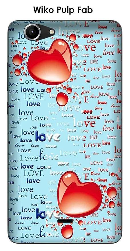 Onozo Carcasa Wiko Pulp Fab diseño 2 corazones, Love azul ...