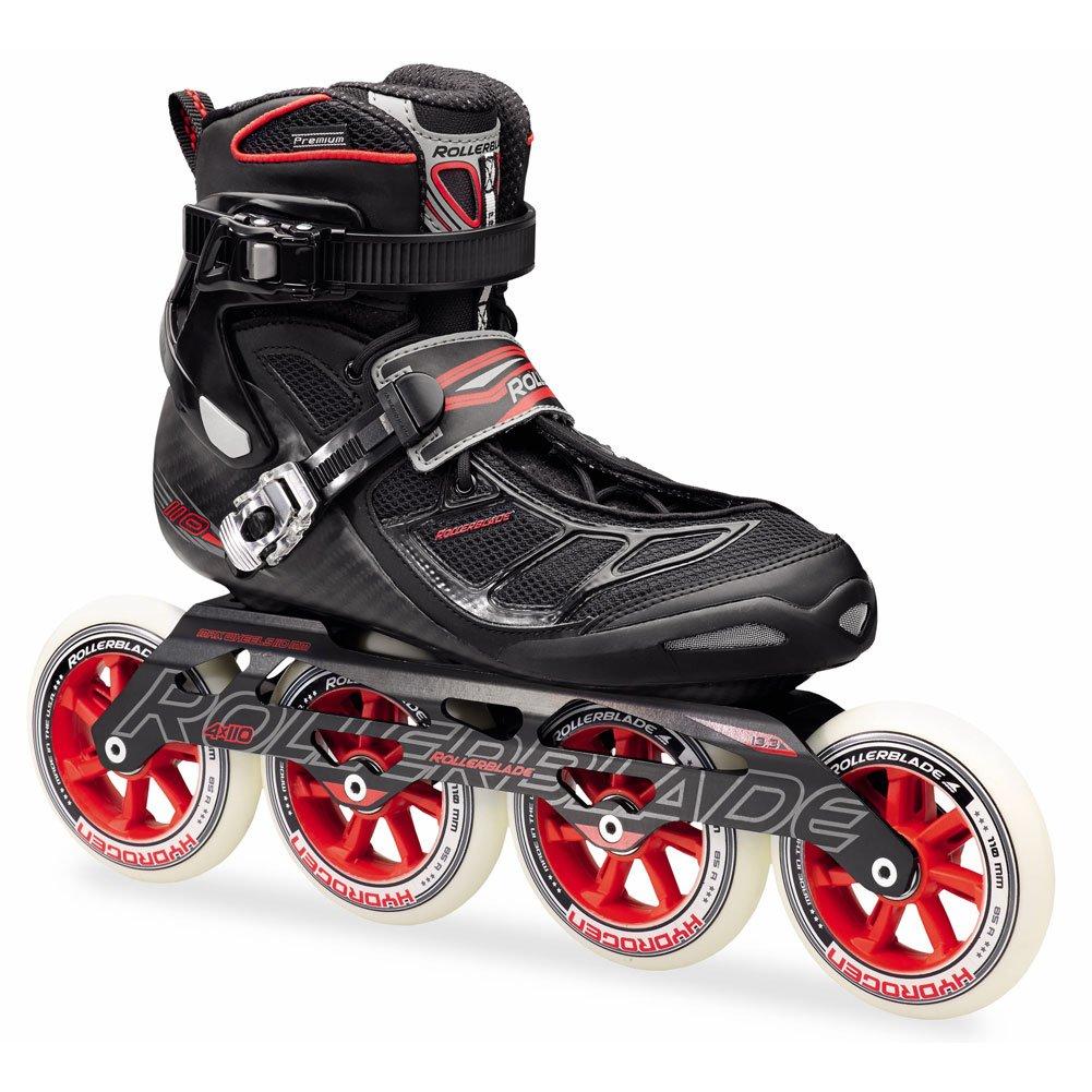 Rollerblade Tempest 110 Inline Skates Black / Red-6 by Rollerblade