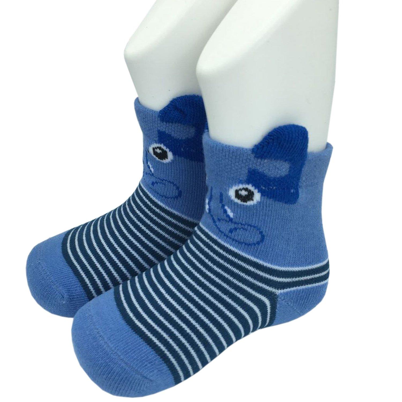 FlyingP Baby Socks 5 Pairs Anti Skid Slip Socks Non Skid Ankle Cotton Socks Baby Walker Grip Socks for 12-36 Months Toddler and Infants by FlyingP (Image #10)