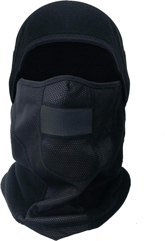RUZER HELVENArmour v2 - Forro polar térmico extra cálido para deporte máscara de esquí ciclismo moto jogging nieve viento pasamontañas gorro capucha protección fría filtro de aire transpirable