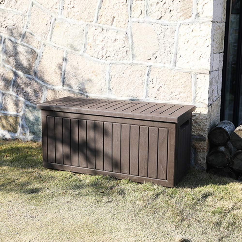 XLLLL Arcon Exterior Impermeable Caseta Depuradora 75 GAL Caja De Almacenamiento JardíN Starplast Bicicletas PláStico Al Aire Libre Banco Patio A Prueba Agua Cubierta: Amazon.es: Hogar