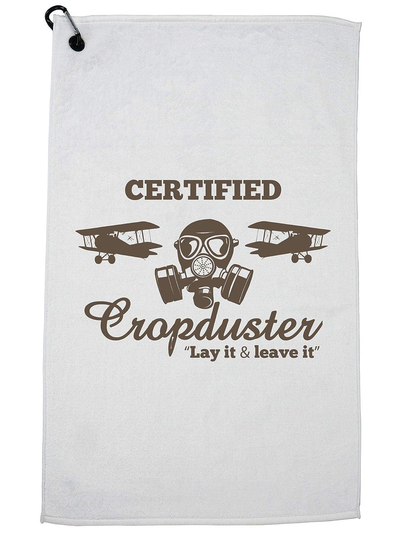 Hollywood スレッド認定 クロップダスター - 面白い農場&ガスマスク ゴルフタオル カラビナクリップ   B07GBJKMRQ
