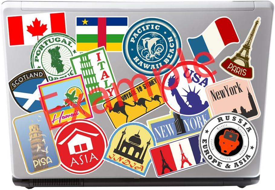 2/x 10/cm in vinile motivo bandiera Grecia bagagli di viaggio ipad computer portatile cuffia Greco # 4874