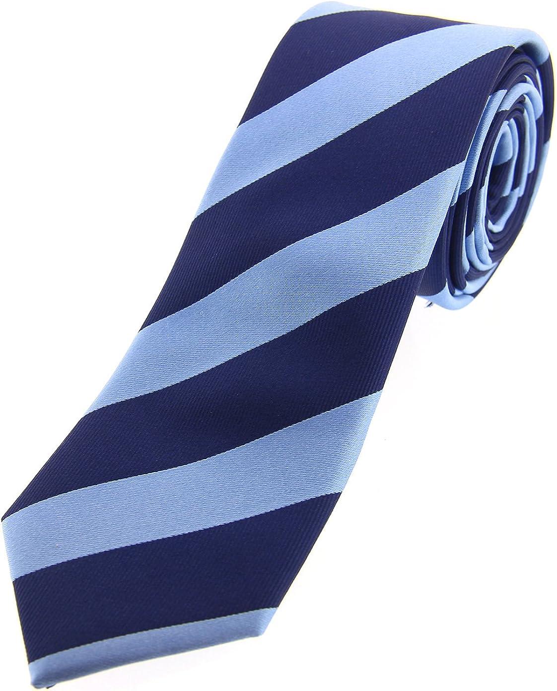 Soprano color azul y azul marino rayas seda fina corbata: Amazon ...