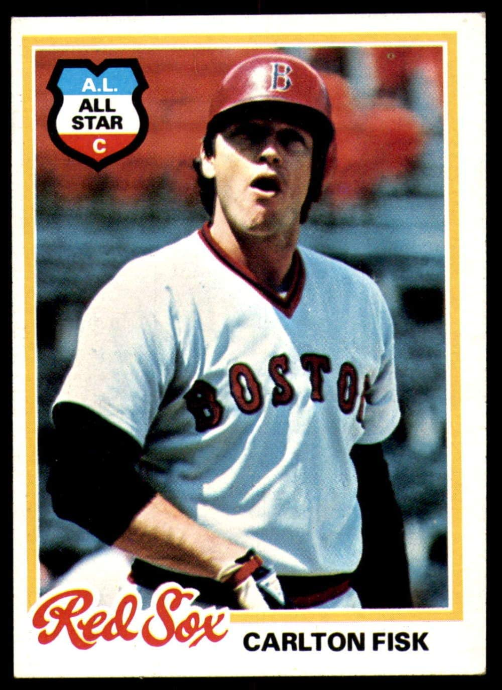 2010 Topps Tales of the Game #TOG-13 Carlton Fisk Red Sox Baseball Card Waves Home Run in 1975 World Series Game 6