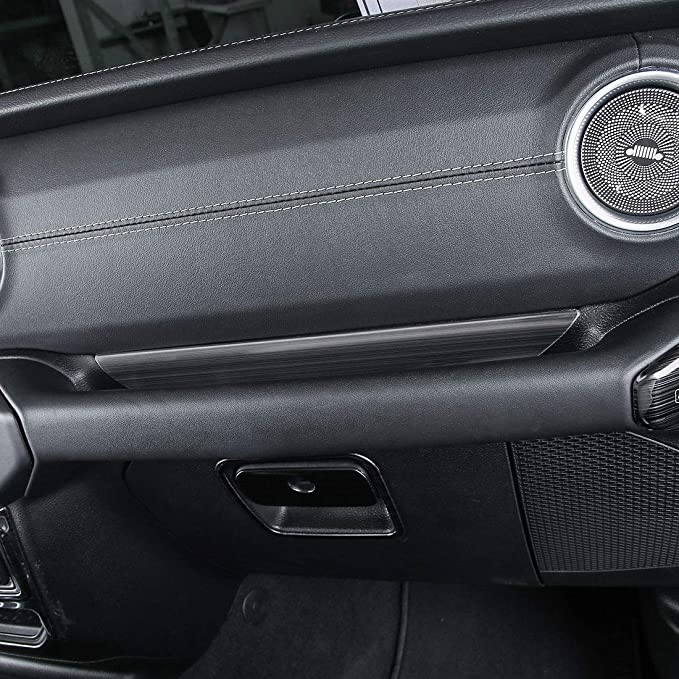 ZGBADMAN Jeep Wrangler 2018 JL Interior Accessories Co-Pilot Armrest Storage Box Organizer Frame Cover Silver