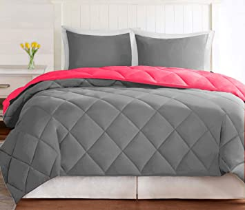 Buy Omoroze Reversible Microfiber Bed Comforter Blanket Quilt Duvet  (Double 36575698f