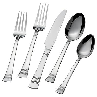 International Silver Kensington 51-Piece Stainless Steel Flatware Set, Service for 8