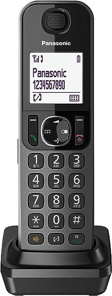 Panasonic KX-TFA30 - Teléfono Supletorio Digital (LCD, teclas Grande, agenda de 100 números, bloqueo de llamadas, modo ECO, 2 en 1), color negro: BLOCK: Amazon.es: Electrónica