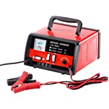 Lescars Autobatterie Ladegerät: Automatisches Profi-Batterieladegerät 12 V / 24 V, max. 15 A (Profi Ladegerät)