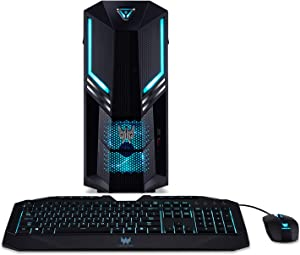Acer Predator Orion 3000 Gaming Desktop, 9th Gen Intel Core i5-9400F, GeForce RTX 2060 Graphics with 6GB, 8GB DDR4, 256GB PCIe NVMe SSD, 1TB 7200RPM HDD, Windows 10 Professional, PO3-600-UD15