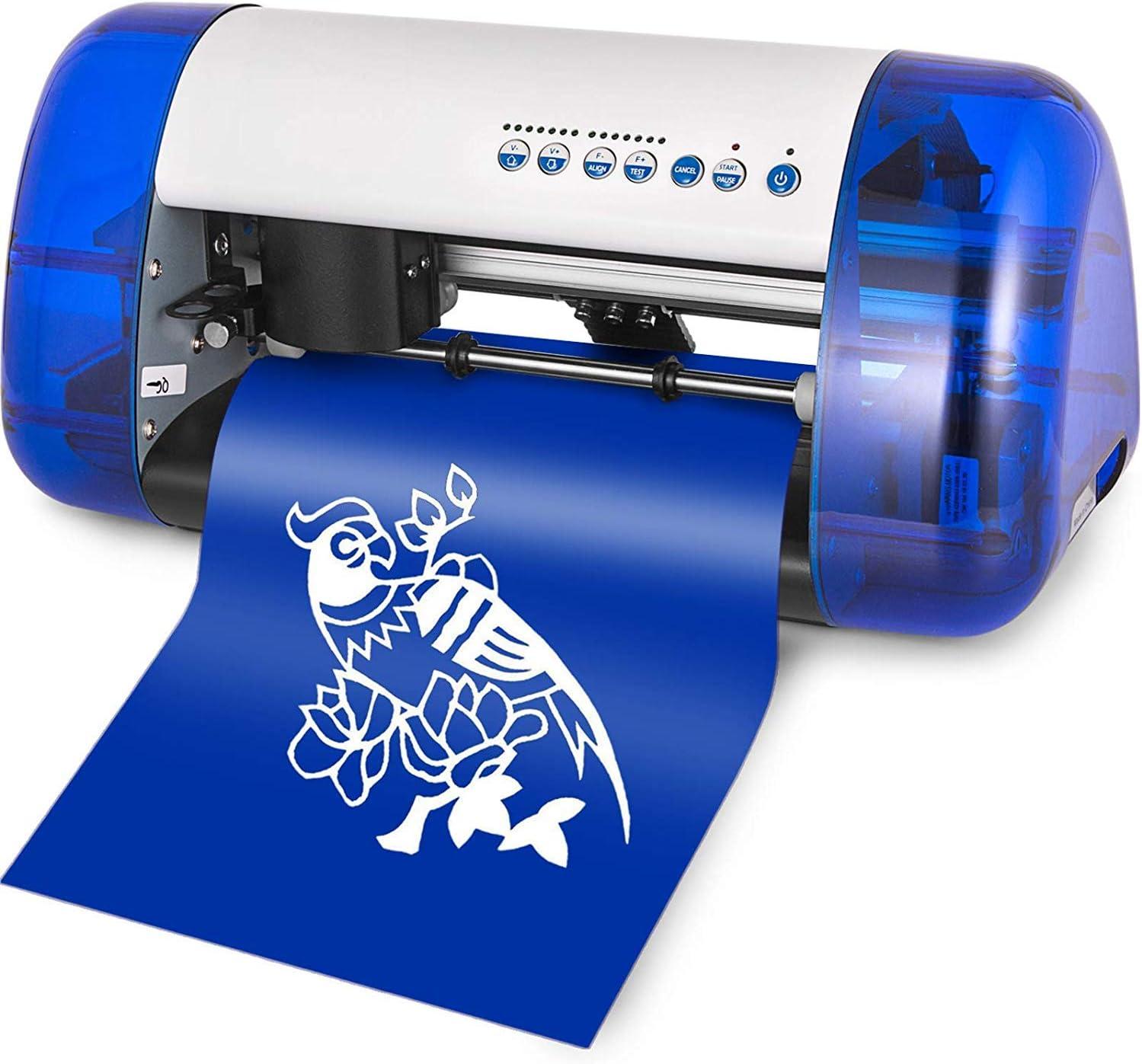 VEVOR máquina cortadora de Vinilo A4 Mini Cortador de trazador de Vinilo para Cartel de Escritorio: Amazon.es: Electrónica