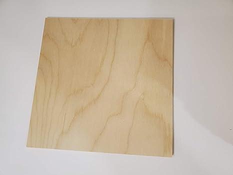 6MM 1//4 x 12 x 24 Premium Baltic Birch Plywood Box of 12 B//BB Grade Birch Veneer Sheets one Clear face