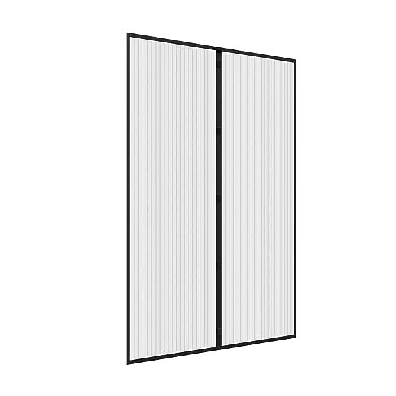 JAROLIFT Mosquitera Cortina magnética para puertas 160 x 230cm, blanco, individual cortable (Ancho y altura): Amazon.es: Bricolaje y herramientas