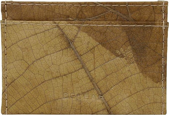 BELEAF   Slim Leaf Slim Wallet aus Blättern Naturprodukt veganes Leder Cruelty Free and Handmade robuster Geldbeutel wasserabweisendes